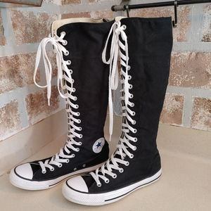 CONVERSE knee high lace up sneakers